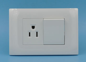 China 2 Gang 1 Way Light Switches And Plug Sockets , Residential Electrical Switches supplier