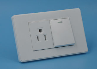 China Standard White Sockets And Switches , Universal Household Electrical Switches supplier