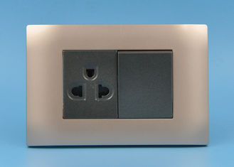 China Custom Brass Switches And Sockets , High Standard Domestic Electrical Switches supplier