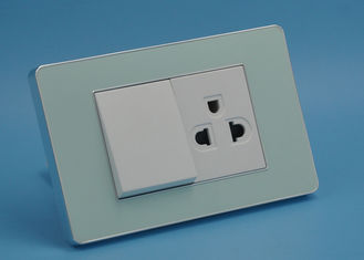 China Acrylic Switches And Sockets With PC Plate Rated Voltage 110 - 250V Children Protection supplier