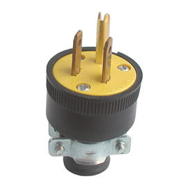 China Custom 3 Pin Electric Plug American Standard Over Voltage Protection Long Usage Life supplier