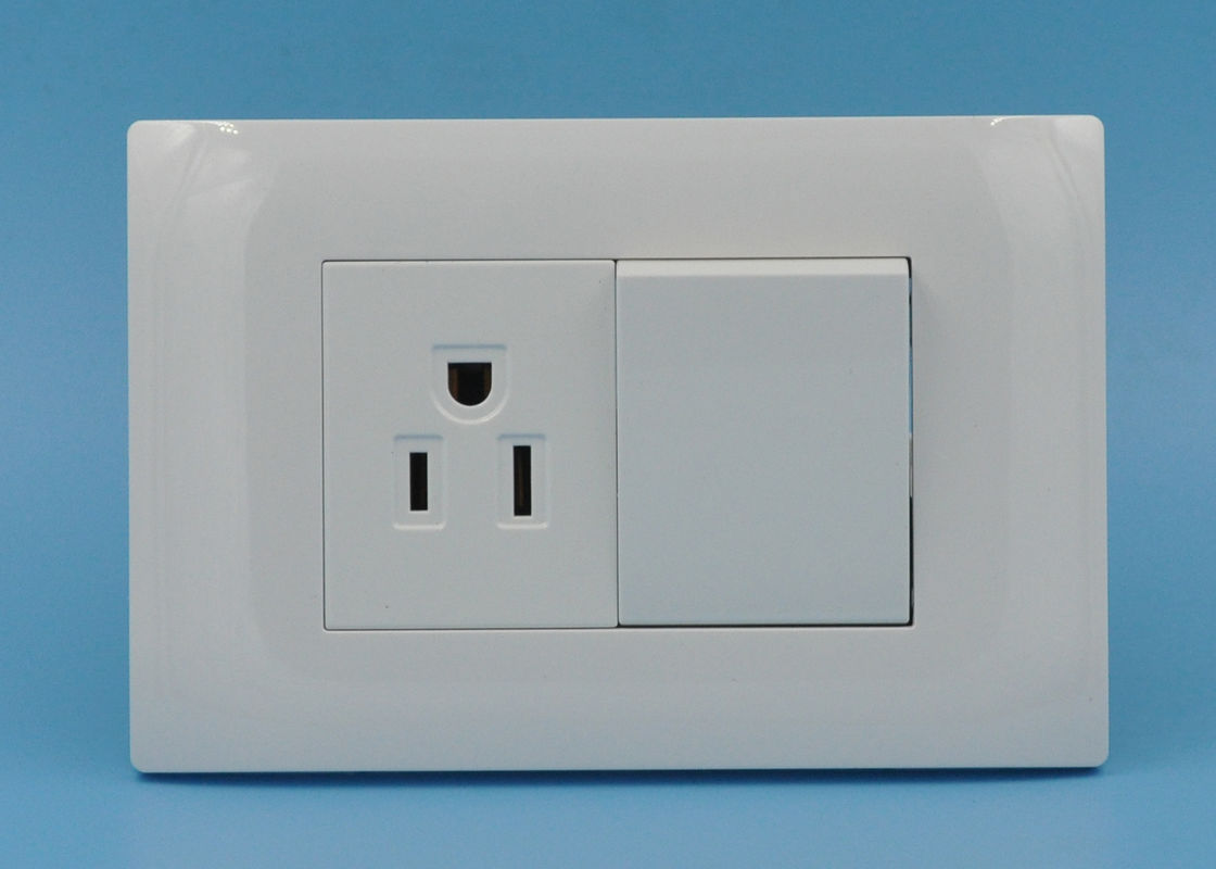 2 Gang 1 Way Light Switches And Plug Sockets , Residential ...