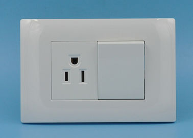 2 Gang 1 Way Light Switches And Plug Sockets , Residential Electrical Switches