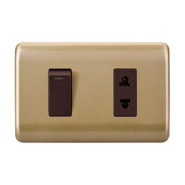 Domestic Electrical Switches Sockets , High Grade Single Wall Outlet Switch