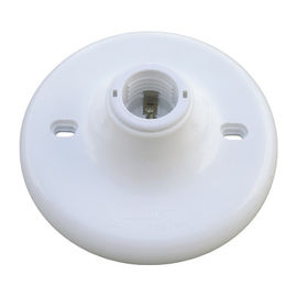 E27 Plastic Screw Type Bulb Holder , Durable And Safe White Socket Bulb Holder