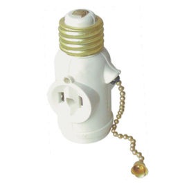 House Plastic Keyless Lamp Holder , High Standard Plastic Light Bulb Holders